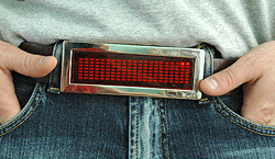 The LED Electronic Scrolling Belt Buckle
